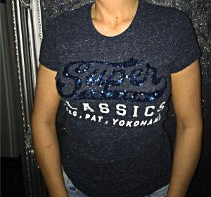 SuperDry Pailetten Shirt Blau