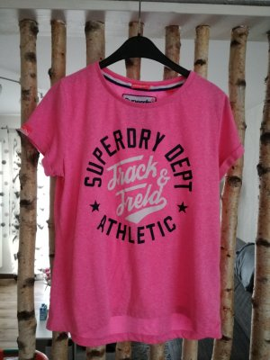 Superdry pinkes T-Shirt Boyfriend Style.