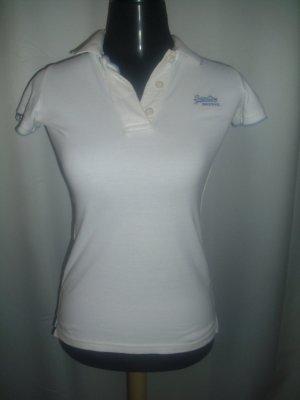 Superdry Poloshirt in weiß Größe XS (Neu)