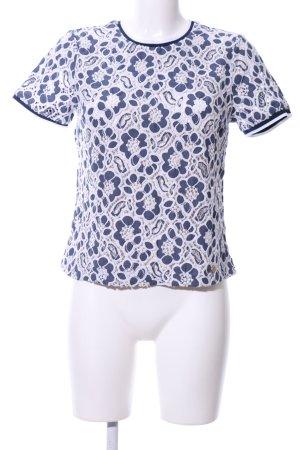 Superdry Print-Shirt blau-weiß Blumenmuster Casual-Look