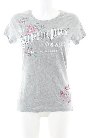 Superdry Print-Shirt Blumenmuster Casual-Look
