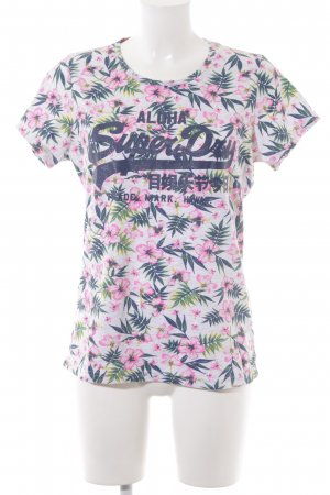 Superdry Print-Shirt florales Muster Beach-Look