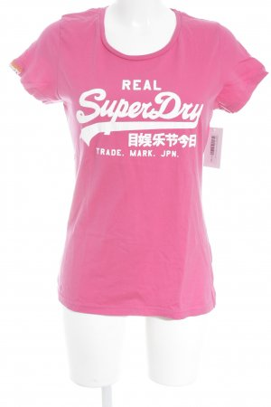 Superdry Print Shirt magenta-white athletic style