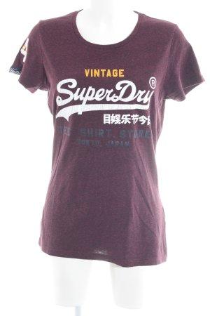 Superdry Print-Shirt meliert Casual-Look