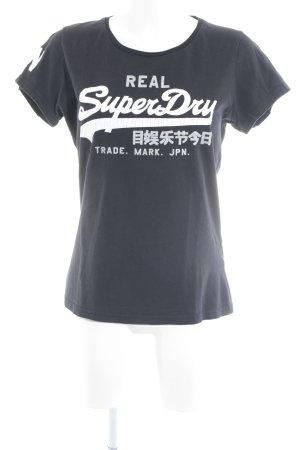 Superdry Print-Shirt Schriftzug gedruckt Casual-Look