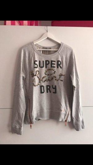 Superdry Pullover hellgrau mit Aufdruck