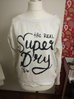 Superdry Pullover mit Spitzeneinsatz