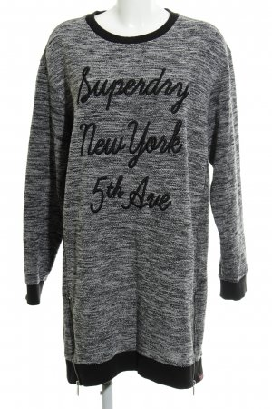 Superdry Sweater Dress black-white flecked simple style