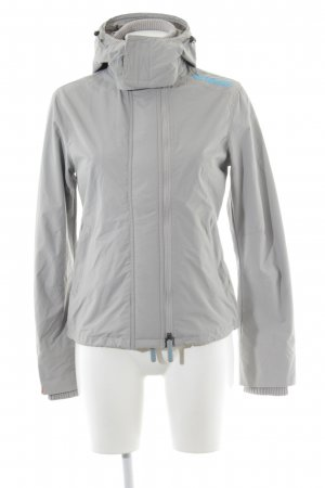 Superdry Raincoat light grey-neon blue athletic style