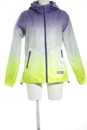 Superdry Regenjacke helllila-neongrün Farbverlauf extravaganter Stil
