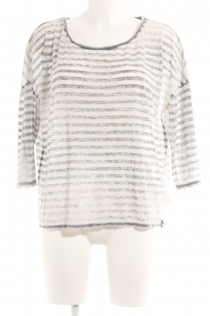 Superdry Stripe Shirt natural white-slate-gray striped pattern casual look
