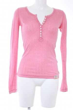 Superdry Rippshirt rosa Casual-Look