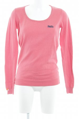 Superdry Rundhalspullover lachs Casual-Look