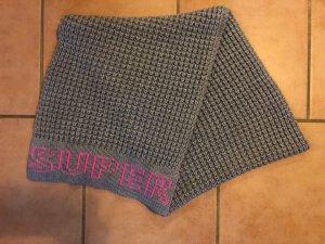 Superdry Wollen sjaal lichtgrijs-roze