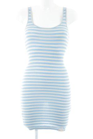 Superdry Schlauchkleid weiß-blau Streifenmuster Casual-Look