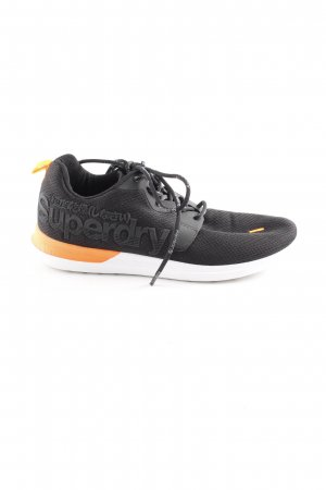 Superdry Lace-Up Sneaker black-neon orange color blocking athletic style