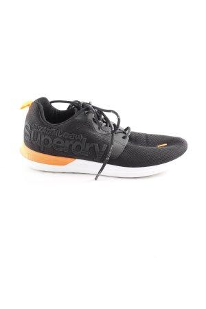 Superdry Schnürsneaker schwarz-neonorange Colourblocking sportlicher Stil