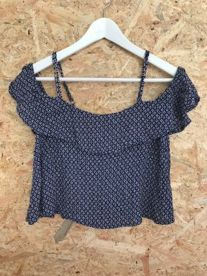 Superdry schulterfreies cropped Top