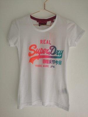 Superdry Camiseta estampada blanco-rojo frambuesa