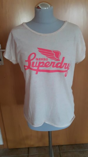 Superdry Shirt cremé/pink