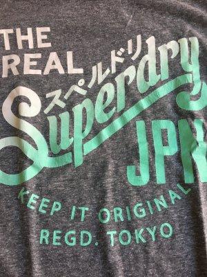 Superdry Shirt grau grün S