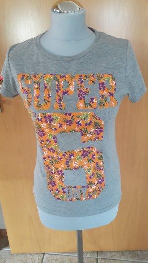 Superdry Shirt grau/orange