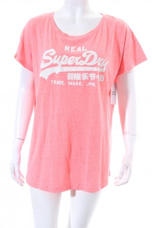 Superdry Shirt neonpink Casual-Look
