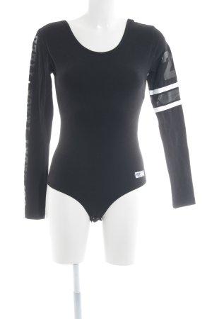 Superdry Shirt Body black themed print athletic style