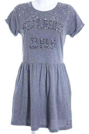 Superdry Shirtkleid graublau meliert sportlicher Stil