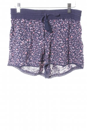 Superdry Shorts dunkelblau-rosa Blumenmuster Beach-Look
