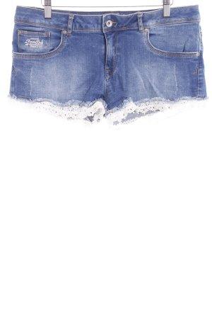 Superdry Shorts stahlblau Casual-Look