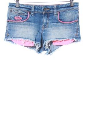Superdry Shorts stahlblau-magenta Beach-Look