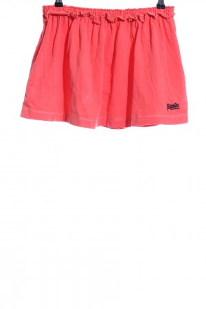 Superdry Skater Skirt red-black embroidered lettering casual look