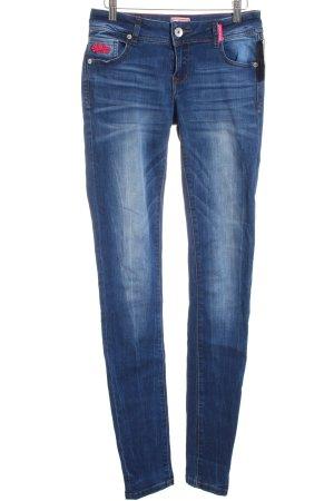 Superdry Skinny Jeans dunkelblau Casual-Look