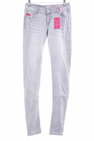 Superdry Skinny jeans lichtgrijs casual uitstraling
