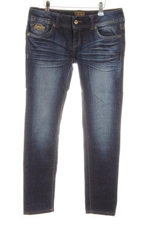 Superdry Slim Jeans blau Street-Fashion-Look