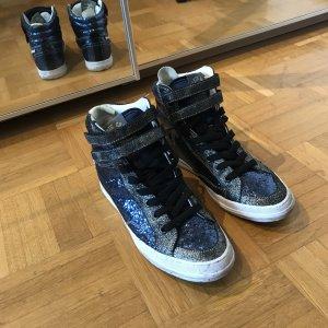 Superdry Sneaker Glitzer Blau