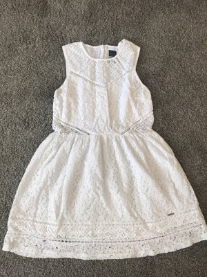 Superdry Abito in pizzo bianco
