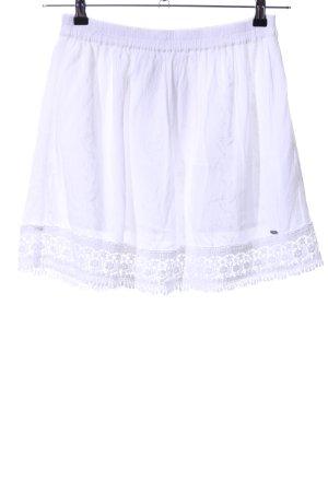 Superdry Kanten rok wit casual uitstraling