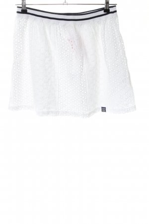 Superdry Kanten rok wit-zwart casual uitstraling