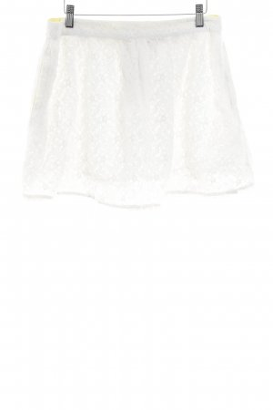 Superdry Lace Skirt natural white simple style