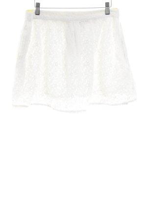 Superdry Jupe en dentelle blanc cassé style simple