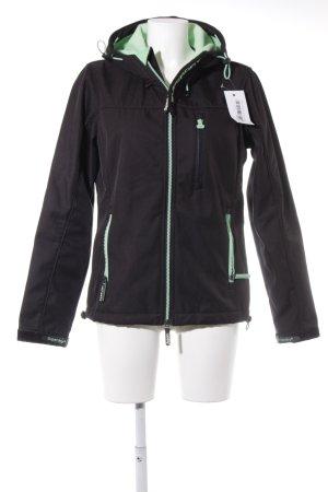 Superdry Sportjacke schwarz-mint Casual-Look