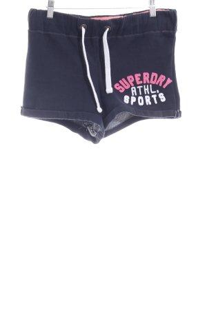 Superdry Sportshorts dunkelblau-pink Casual-Look