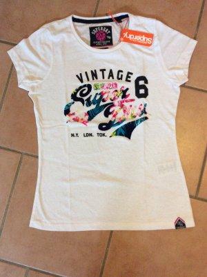 Superdry Stacker Flock T-Shirt - Neu mit Etikett