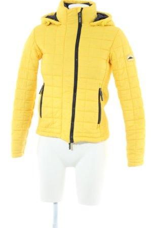 Superdry Steppjacke gelb-dunkelblau Casual-Look