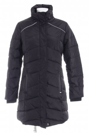 Superdry Quilted Coat black quilting pattern casual look