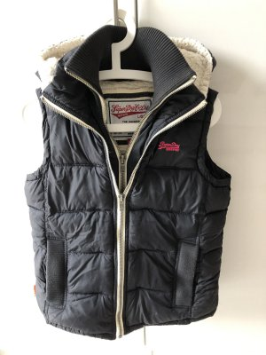 Superdry Quilted Gilet magenta-dark blue