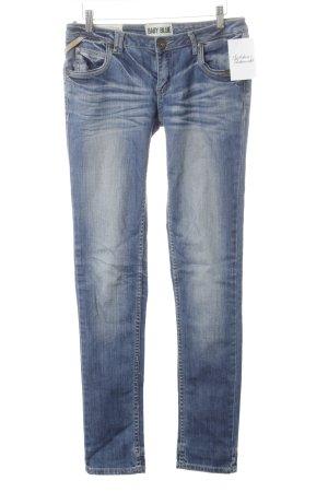 Superdry Straight-Leg Jeans stahlblau Jeans-Optik