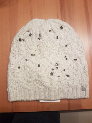Superdry Beanie natural white mixture fibre